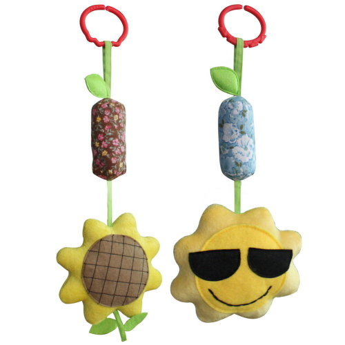 [Sun and Sunflower] Baby Crib/Stroller Toys, Baby Room Decor, 2PCS
