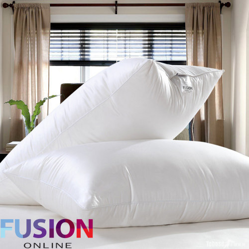 Luxury Goose Feather And Down Pillows, Comfortable Hotel Quality Pack of 2