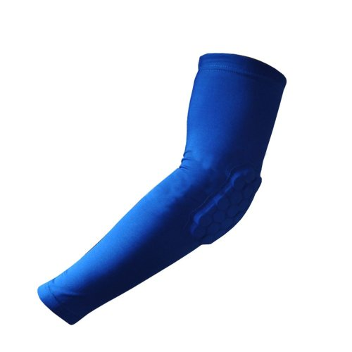 [BLUE] Comb Pad Protection Compression Basketball Shooter Sleeve, Size XL