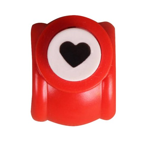 Set of 2 Mini Practical Hand Work Punch Paper Punch, Heart Shape