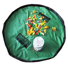 Baby Kids Play Floor Mat Toy Storage Bag  Quickly Easily Folds Up,cyan