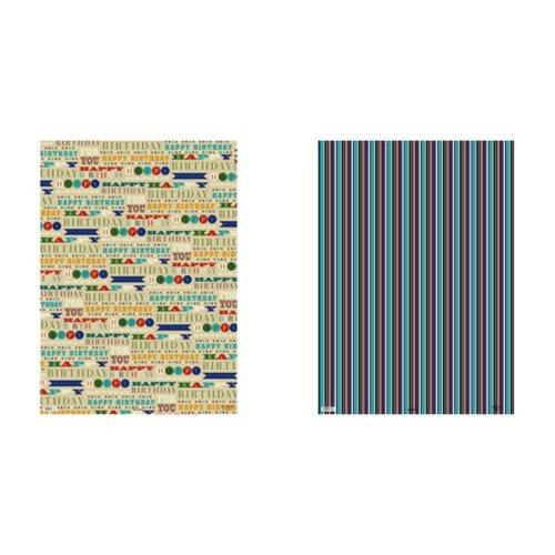 Simon Elvin 24 Sheets Designer Male Gift Wraps
