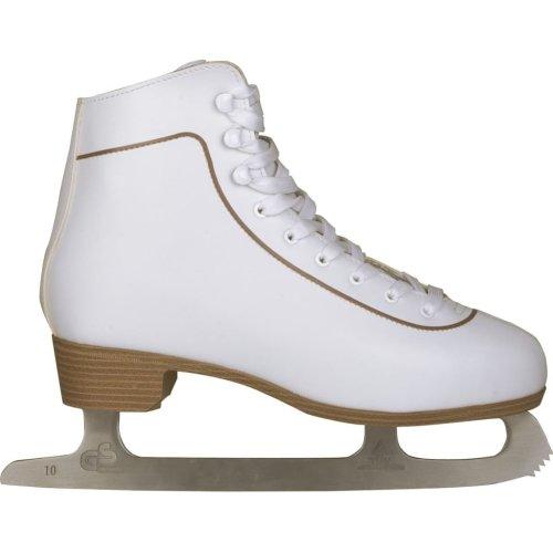 Nijdam Women Figure Skates Skating Boots Classic Leather Size 40 0043-WIT-40