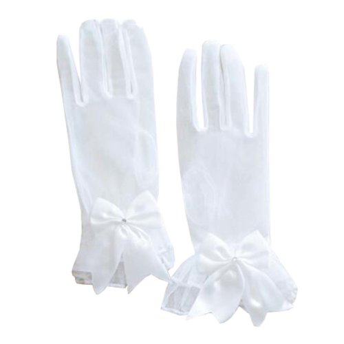 Women's Evening Party Lace Finger Gloves(Short) Gloves For Wedding Prom Party,A1