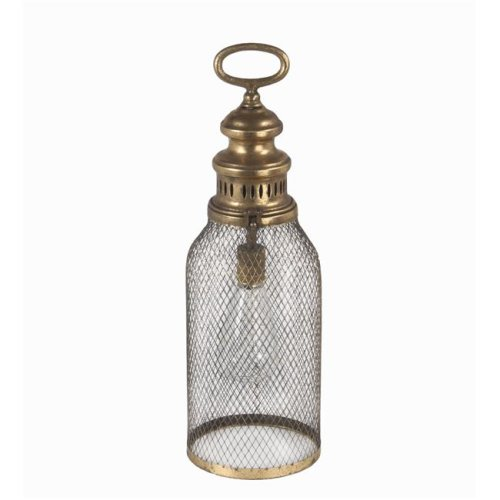 Privilege 21009 Pierced Lantern, Gold - Large
