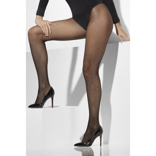 Black Fishnet Tights -  tights fishnet fancy dress black ladies size adult plus pantyhose accessory hosiery sexy womens pattern