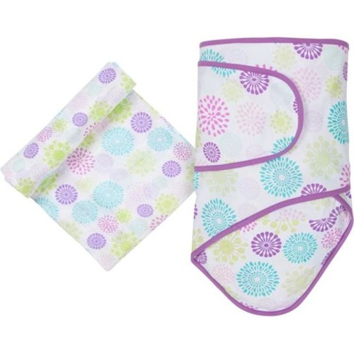 MiracleWare 4445 Colorful Bursts Blanket & Muslin Swaddle Set