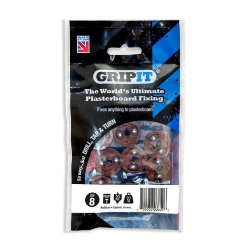 Gripit - Brown/20mm - Pack of 8
