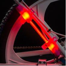 LED Super Flare Bike Safety.with Bseen LED Running Armband Snap Bracelet.