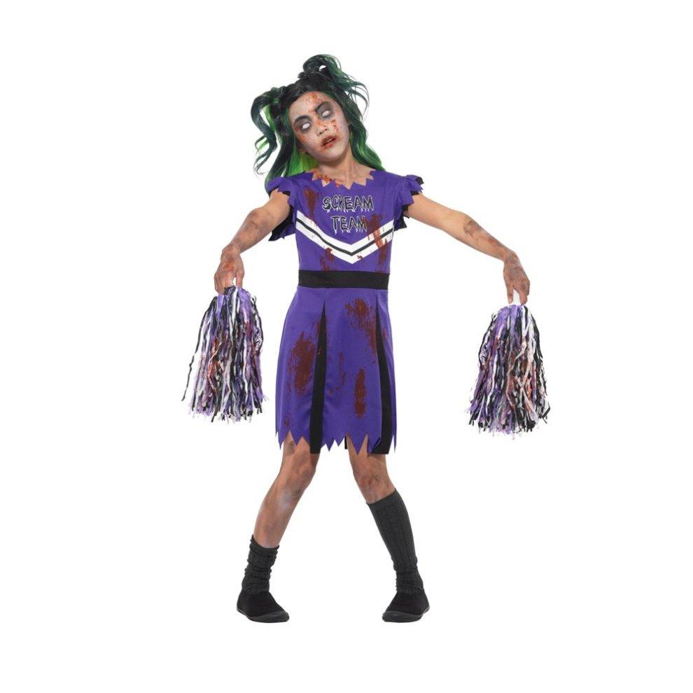7199367bd1d Dark Cheerleader Costume, Halloween Child Fancy Dress, Small Age 4-6