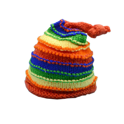 Newborn Baby Photography Props Knitted Handmade Hat [Rainbow]