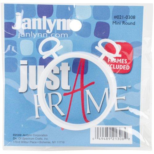 """Janlynn Just A Frame Round 2.5"""" 2/Pkg-White"""