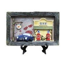 Wooden Frames Blue Car Photo/Album Frame/ Nursery Picture Frames