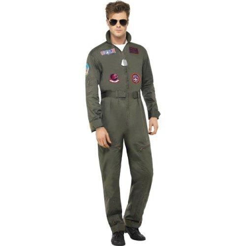 Adult s Top Gun Costume - top gun costume deluxe fancy dress mens aviator  pilot jumpsuit outfit male licensed aviators 80s on OnBuy 7f1cb8661dfb2