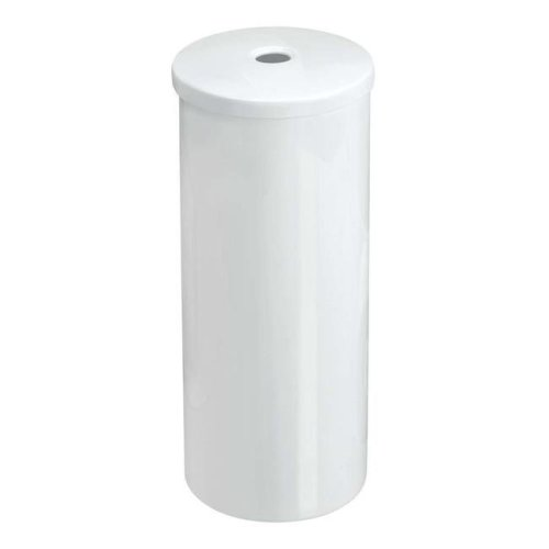 InterDesign 93250 14.5 x 6 in. Una Free Standing Toilet Paper Holder - White