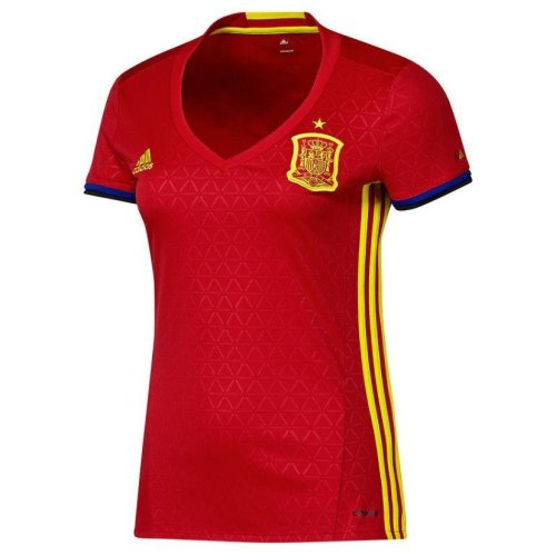 adidas Women's Spain National Football Team 16/17 Home Jersey - Red
