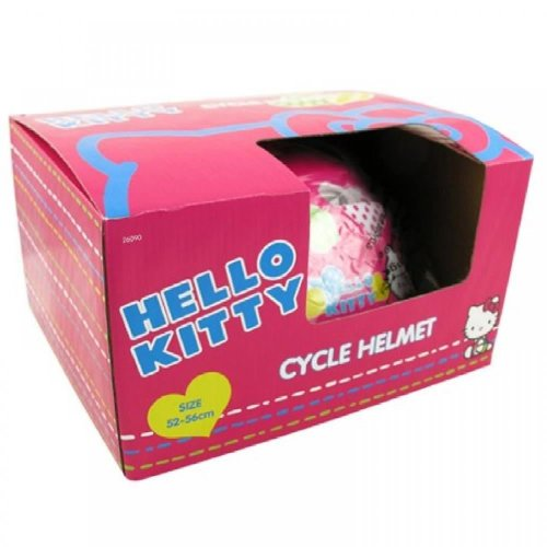 HELLO KITTY PINK CHILDRENS KIDS BIKE BICYCLE SKATE SCOOTER SAFETY HELMET 52-56CM