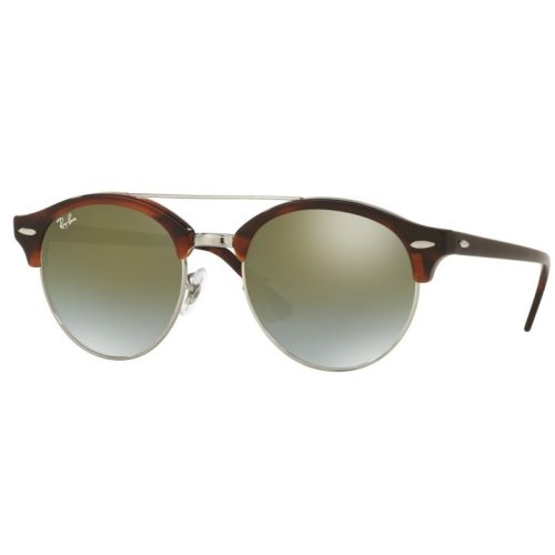 Ray-Ban Clubround Double Bridge Havana Sunglasses - RB4346-62519J-51