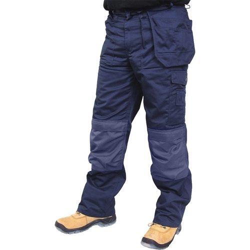 "Click CPMPTN30 Premium Multi Purpose Rugged Heavy Duty Work Trousers Navy Blue 30"" Waist Standard Leg"