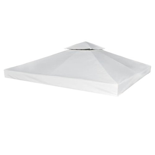 vidaXL Gazebo Cover Cream White 3x3m Waterproof Canopy Replacement Tent Top