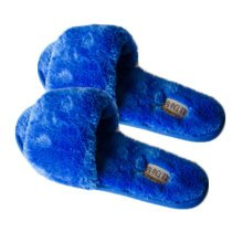 Pairs Womens Indoor Comfortable Soft Cotton Female Plush House Slipper Blue