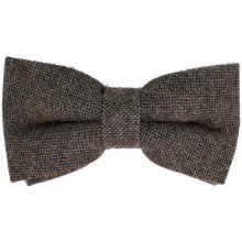 Brown Tweed Bow Tie with Optional Hank