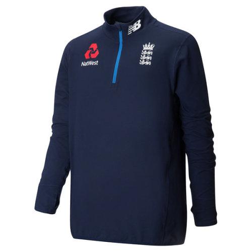 New Balance ECB England Cricket 1/4 Zip Training Top