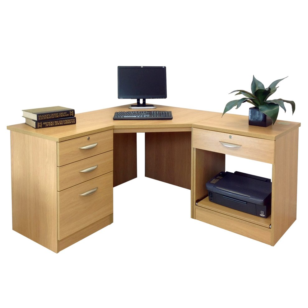 Home Office Furniture Uk Desk Set 18: (Classic Oak, Wood Grain Profile) Home Office Furniture UK