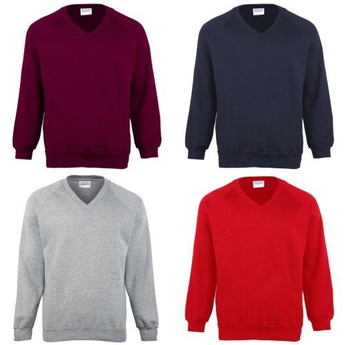 Maddins Childrens Unisex Coloursure V-Neck Sweatshirt / Schoolwear