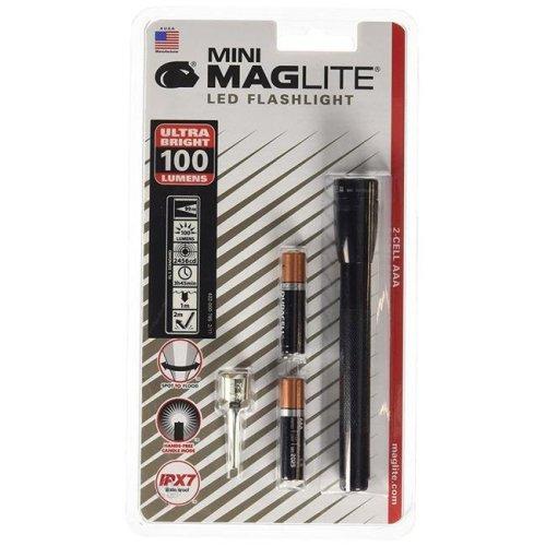 Maglite 459-SPPLUSP01H 2 Cell AAA Mini Maglite Flashlight, Black