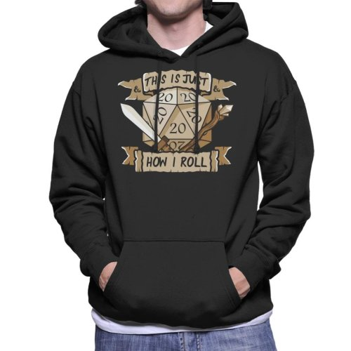 Dungeons And Dragons Just How I Roll Men's Hooded Sweatshirt