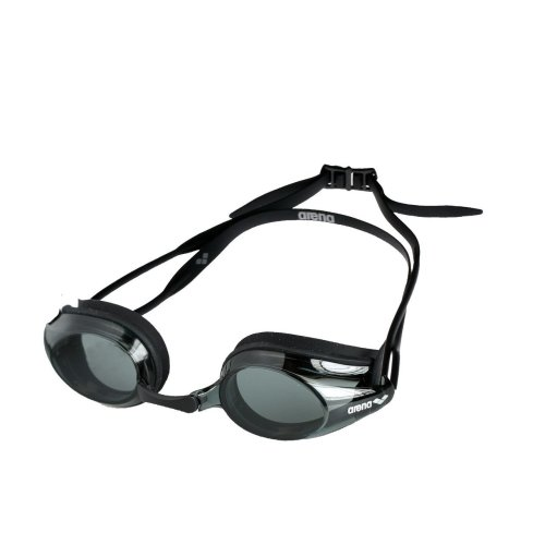 Arena Adult Tracks Swimming Goggles - Smoke Lens, Black Frame