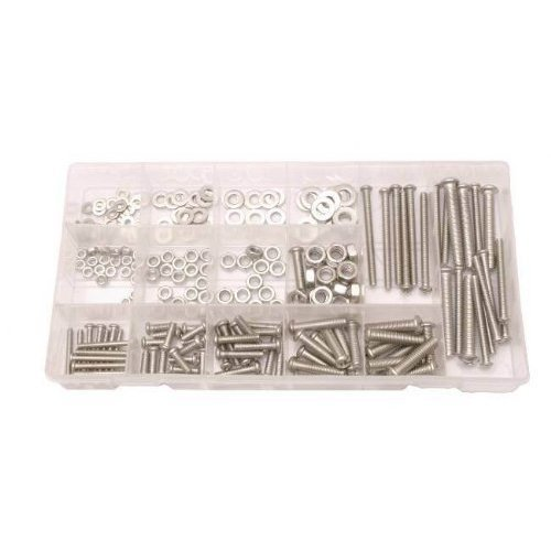 224pc Stainless Steel Nuts And Screw Bolts