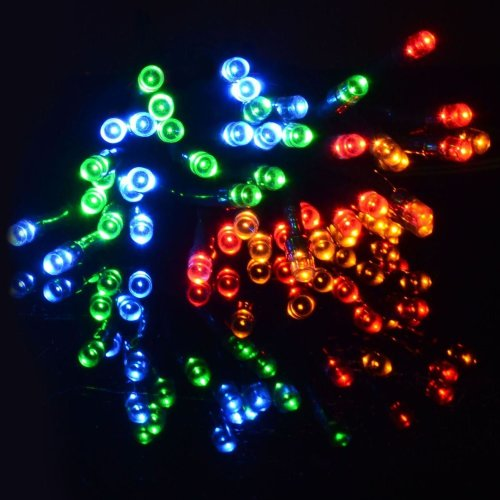 String Chaser Lights 200 Multi Coloured LED Garden Party Christmas Outdoor