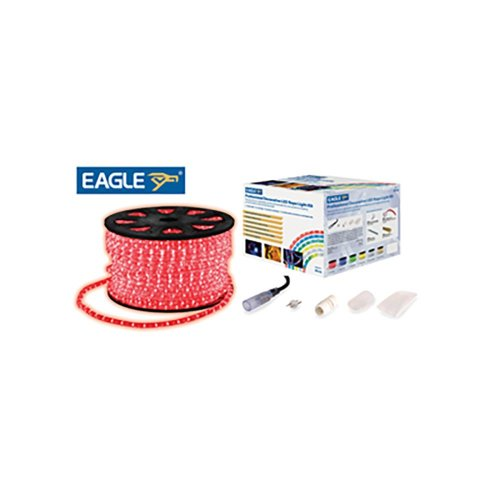 Eagle Static LED Rope Light Kit With Wiring Accessories Kit 45m red