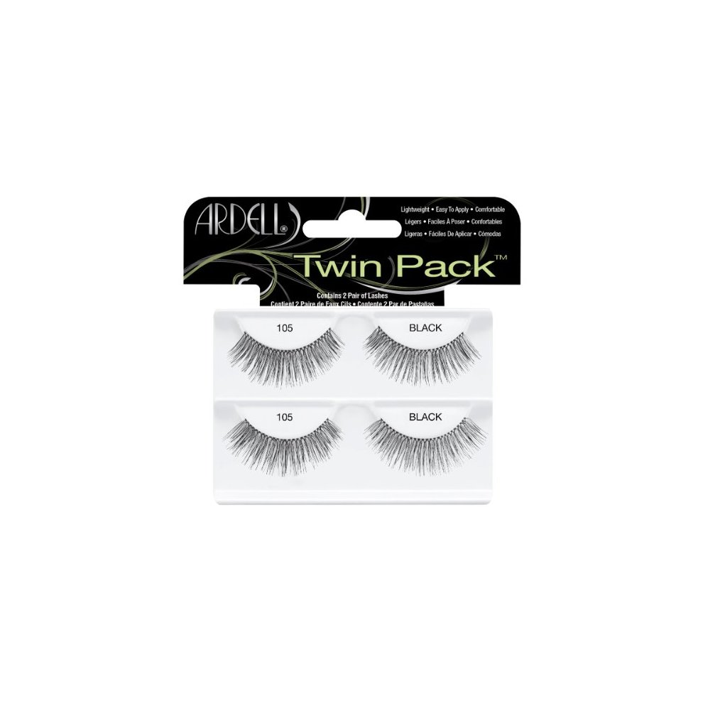 b59d2ef183b Ardell Twin Pack Lashes for Women, No. 105 Black on OnBuy