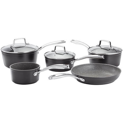 5pc Stellar Rocktanium Cookware Set | Non-Stick Saucepan Set