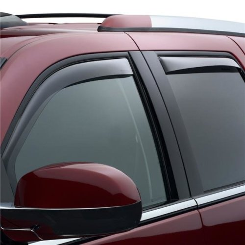 WeatherTech 82435 In-Channel Dark Smoke Front & Rear Side Window Deflectors for 2013-2014 Cadillac Escalade