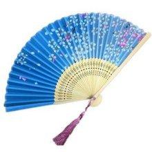 Aya Silk Folding Fan Handheld Folding Fan Chinese/Japanese Silk Handheld Fan