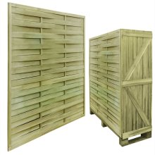 30 Impregnated Wooden Square Fence Panels 54 m 180 x 180 cm