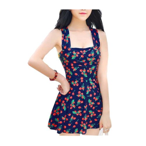 Lovely One-piece Skirt Swimming Apparel/Conservative Large Size Swimsuit