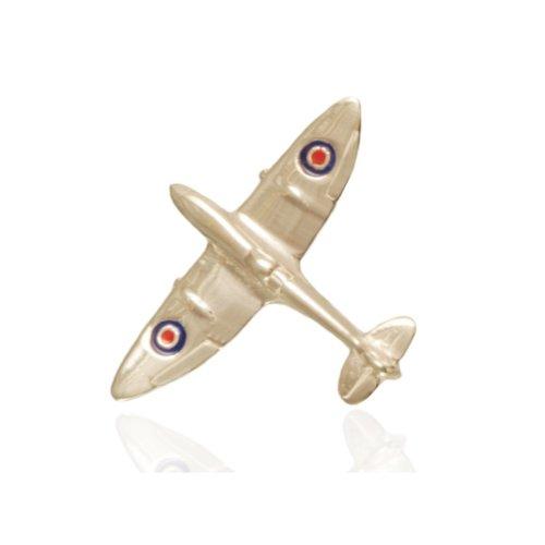 925 Sterling Silver RAF Spitfire Tie Pin.