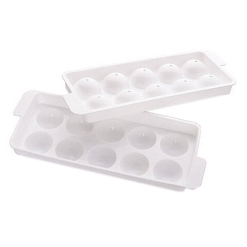 Set Of 2 Creative White Ice Cube Tray With Lid For Home/Bar Use, NO.5