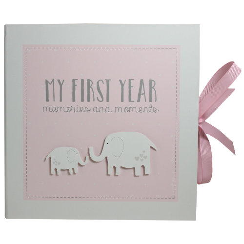 My First Year Record Book Petit Cheri Collection Gift - Pink Baby Girl