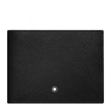 MONTBLANC PORTFOLIO 6 COMPARTMENTS WITH CREDIT CARD SLOTS REMOVABLE SARTORIAL BLACK BLUE 116330