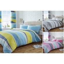 Dexter Striped Patterned Duvet Cover Set