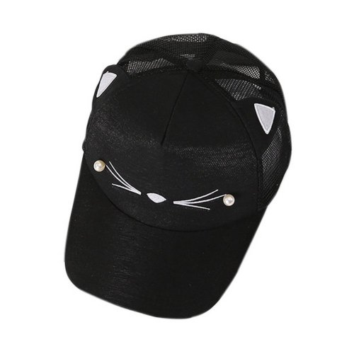 Cat Caps Fashion Caps Ladies Baseball Caps Sun Cap Women Golf Hats Black