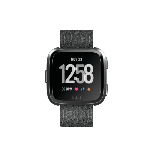 Fitbit Versa Special Edition Health and Fitness Smartwatch, Charcoal, One Size