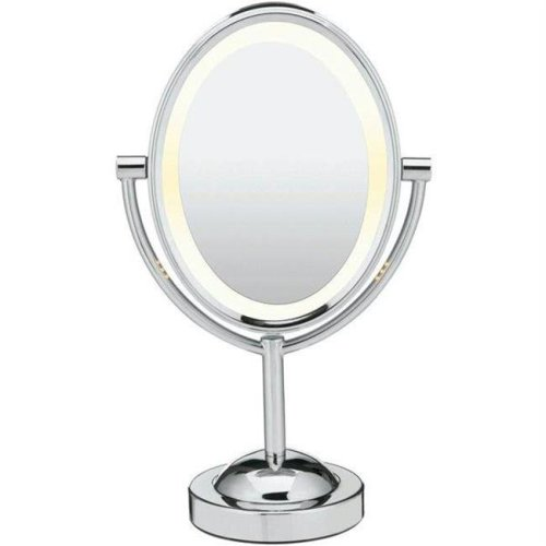 Conair 1X-7X Magnification Double-Sided Lighted Oval Mirror