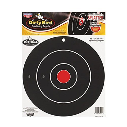 Birchwood Casey Dirty Bird Target 12-Inch Bulls Eye (12Pack)